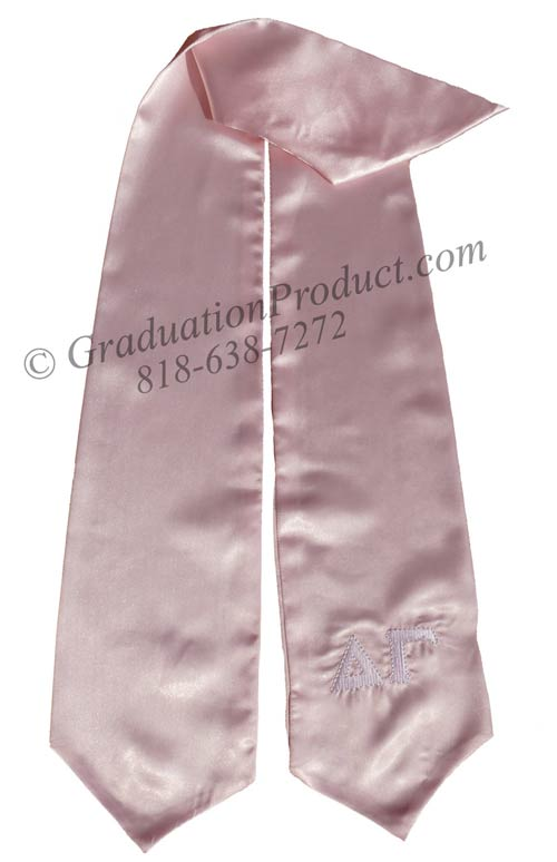 Alpha Gamma Greek Pink Graduation Sashes