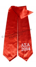 Alpha Sigma Alpha Red Greek Grad Stole