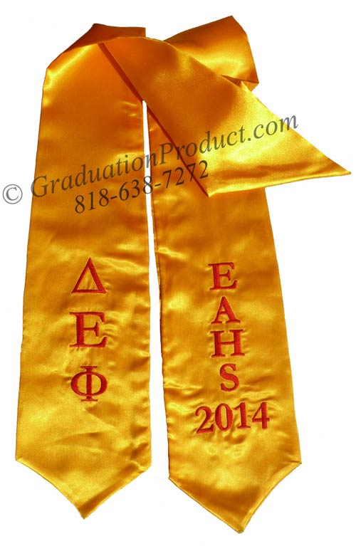 EAHS Delta Epsilon Phi Greek Graduation Sash