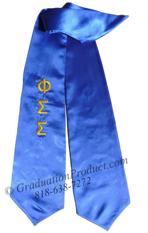 Phi Sigma Sigma greek graduation sashes