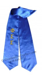 Phi Sigma Sigma greek graduation sashes