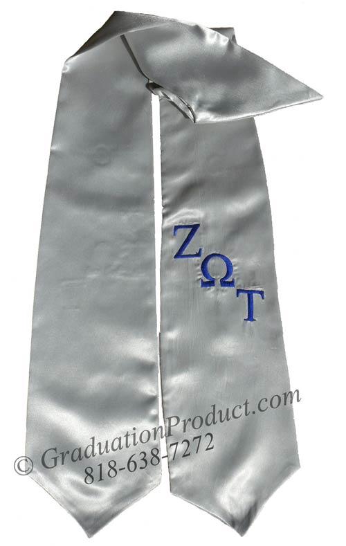 Zeta Omega Tau fraternity graduation stoles