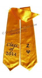 Embroidered Zeta Psi Graduation Sash