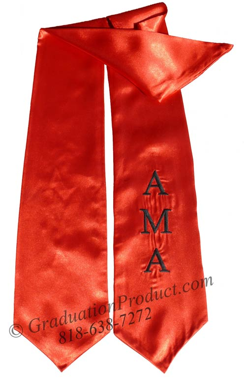 Embroidered Red AMA Sash