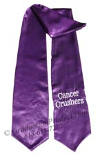 Embroidered Purple Cancer Crushers Stole