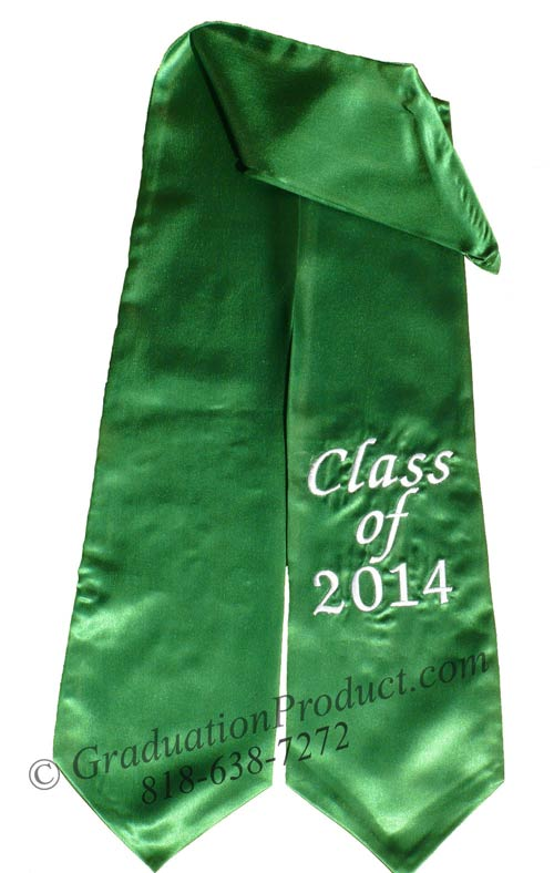 Personalized Class of 2018 Graduation Stole