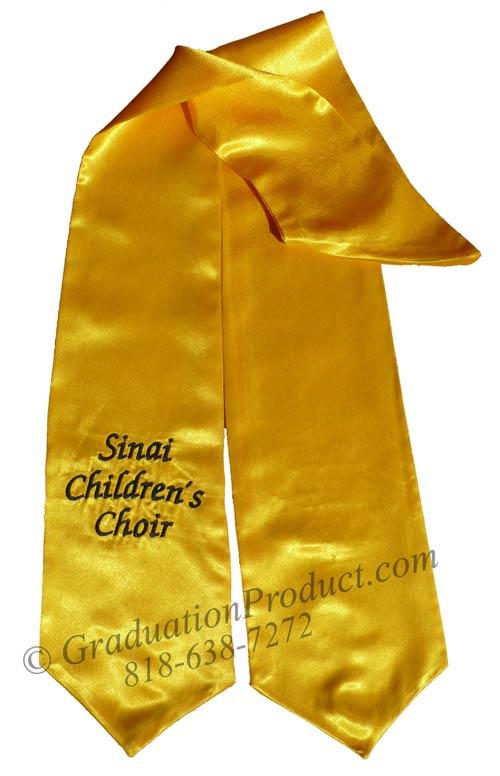 Sinai Childrens Choir Graduation Stole