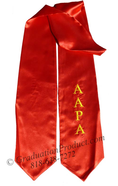 Embroidered  Red AAPA Sash