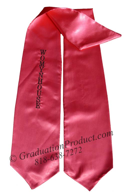 Embroidered  Hot Pink Womynhouse Sash