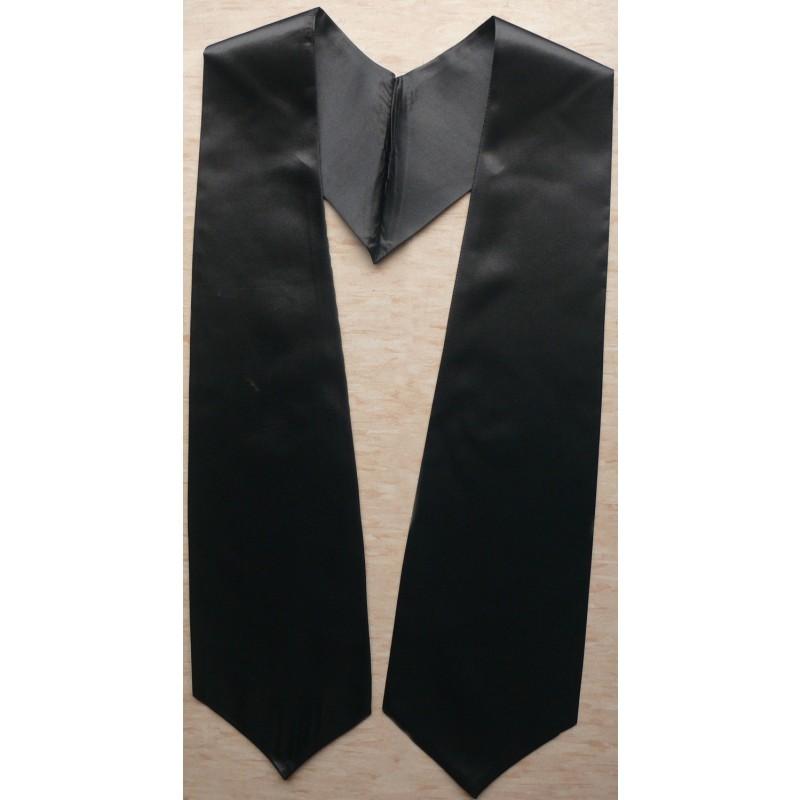 Black Graduation Stole