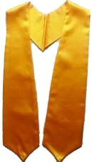 Gold Plain Graduation Stole