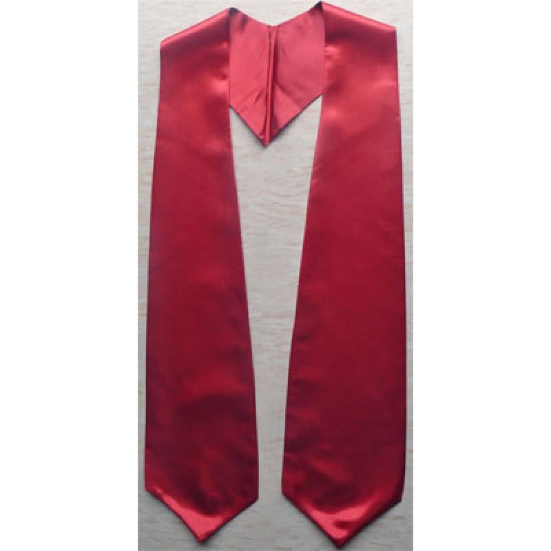 Maroon Plain Graduation Stole