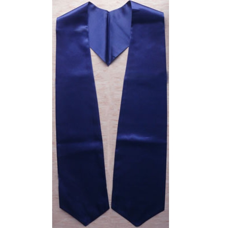 Navy Blue Blank Grad Sash