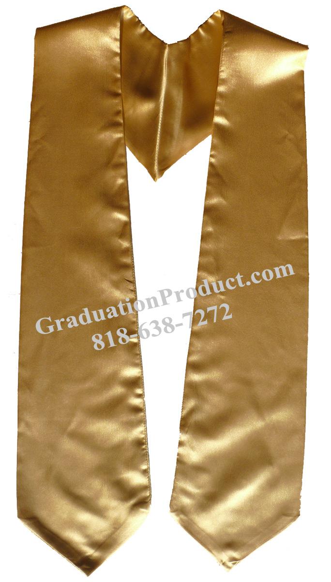 Old Gold Graduation Stole