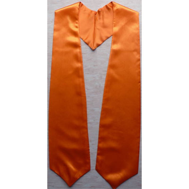 Orange cheap graduation stoles