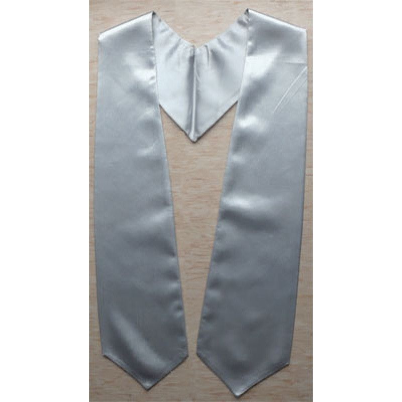 Silver Blank Grad Sash