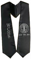 Embroidered Black WCHS Sash