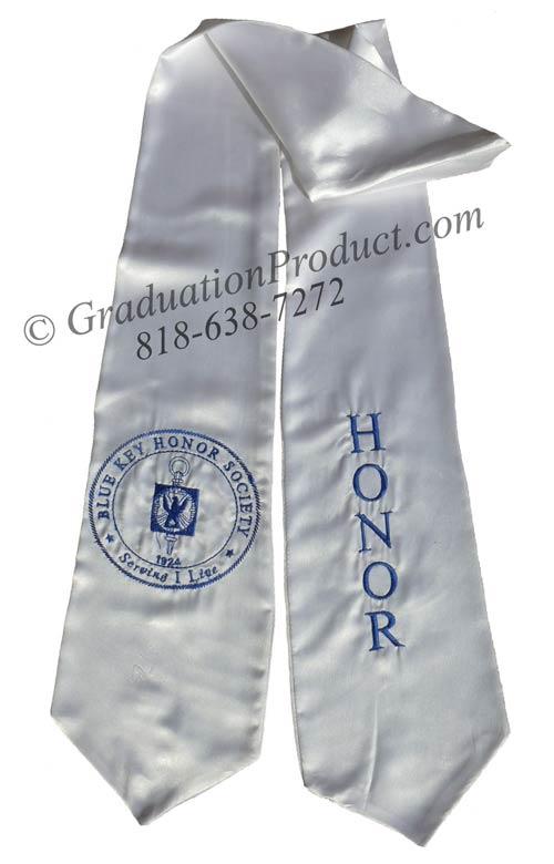 Blue Key Honor Society graduation sashes