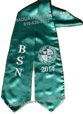 BSN , West Coast University Graduation Stole