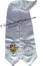 Embroidered White  ENHS Sash