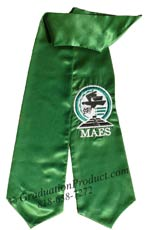 Embroidered MAES Grad Sash