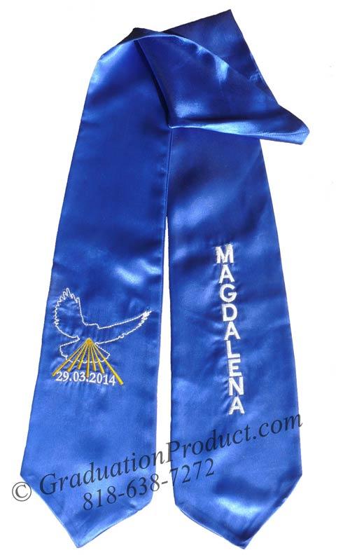 Embroidered Royal Blue Magdalena Sash