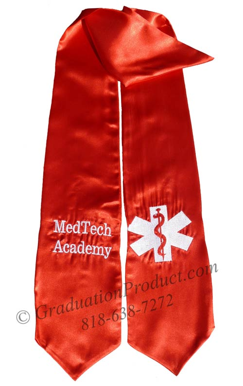 Medtech Academy custom stoles for graduation