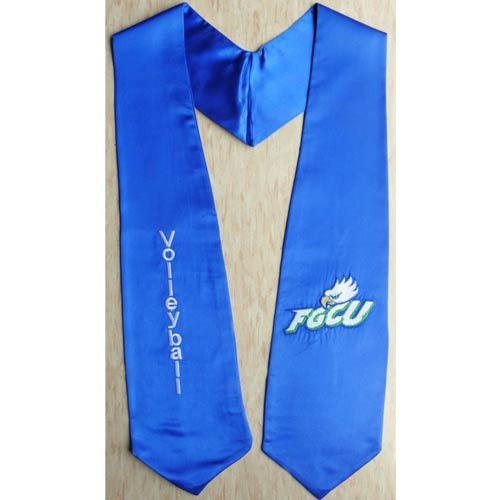 Embroidered Volleyball FGCU Grad Sash