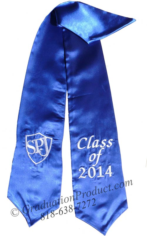 Embroidered SPJ Class of 2018 Sash