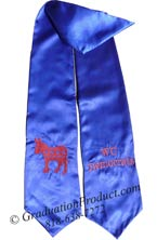 WC Democrates customized graduation stole