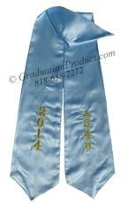 AS4B 2018 Light Blue Custom Sash