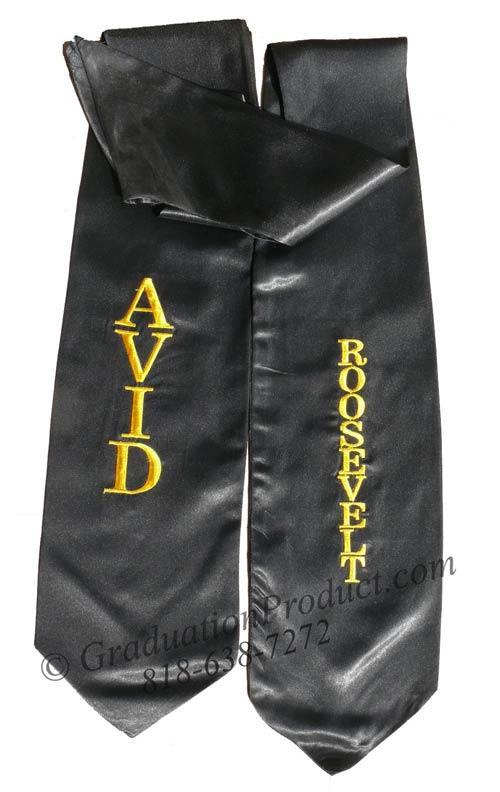 AVID Roosevelt graduation stoles custom
