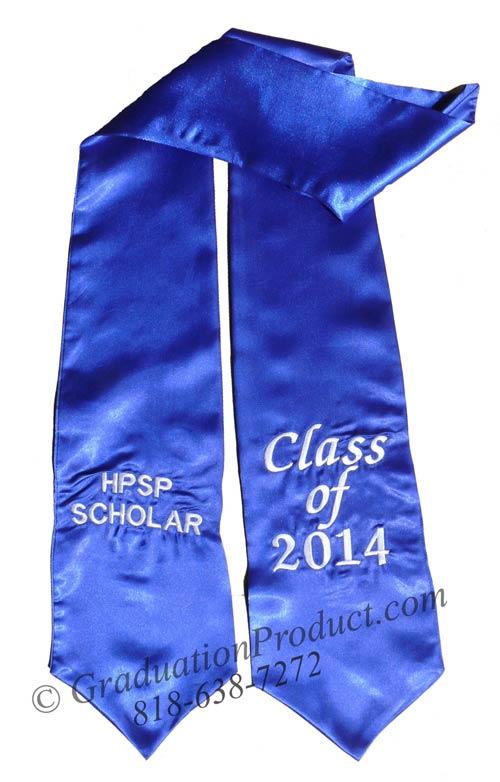 HPSP Scholar personalized stoles