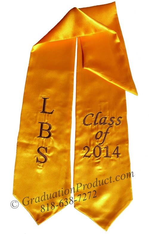 LBS Class of 2018 Gold Graduation Stole