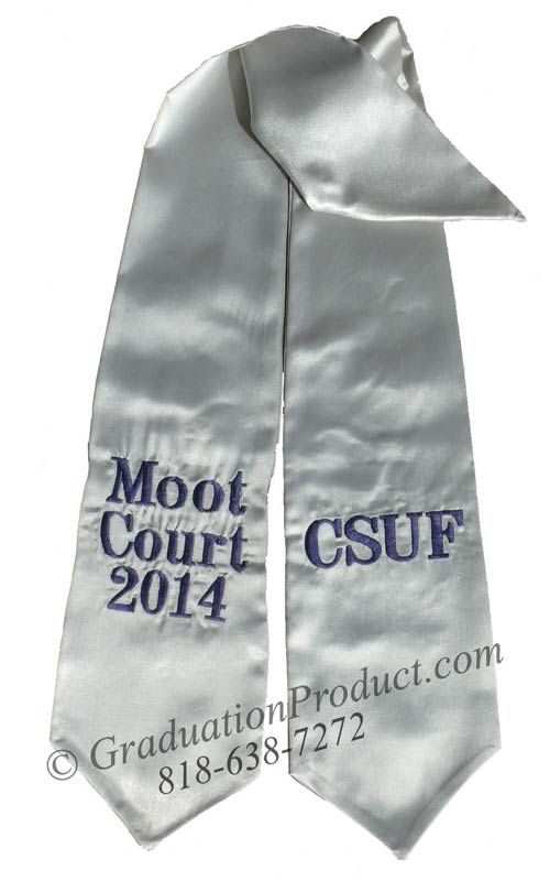 CSUF Moot Court 2018 Custom Sash