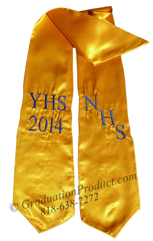 NHS YHS 2018 personalized sashes for graduation