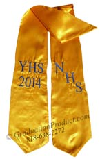 NHS YHS 2015 Gold Graduation Stole