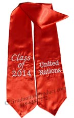 United Nations Class of 2015 Graduation Stole