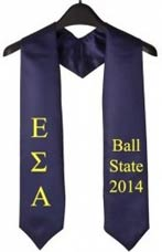 Ball State 2015 Greek Graduation Stole