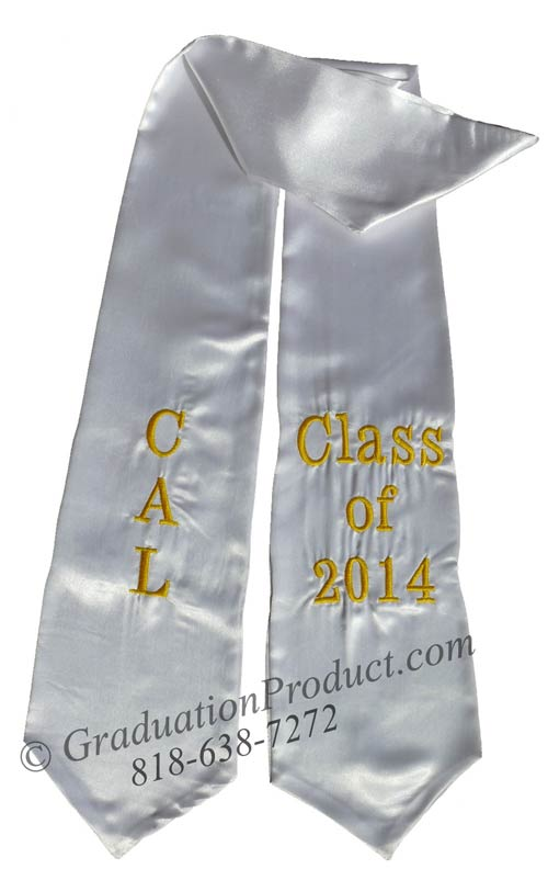 CAL Class of 2018 commencement graduation sash