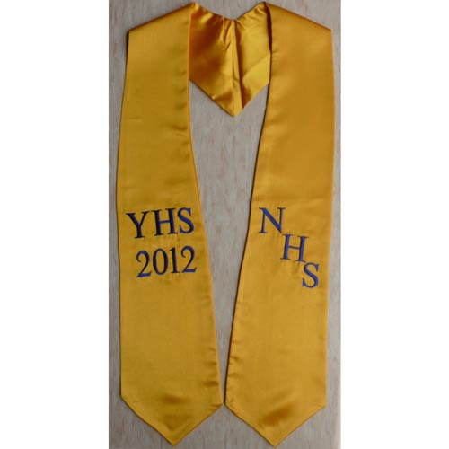 NHS YHS 2018 stoles for graduation