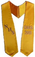 NHS DHS 2018 custom graduation sashes
