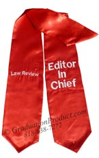 Law Review Editor in Chief Graduation Stole