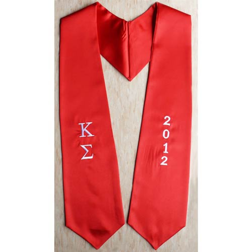 Kappa Sigma Greek graduation sash