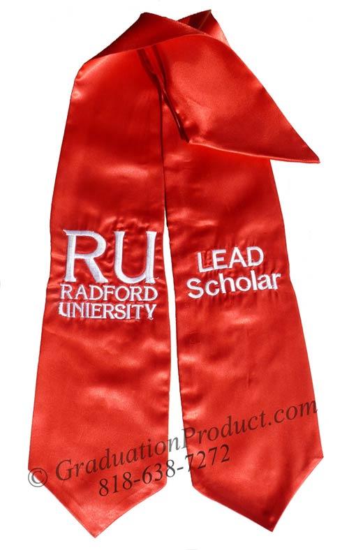 Radford University graduation Stole