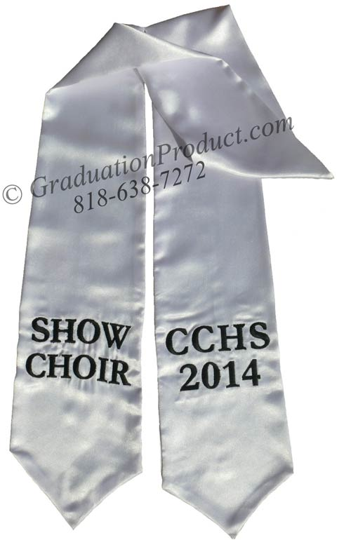 Show Choir CCHS 2018 Graduation Sash